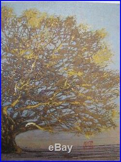 Joichi Hoshi Great Tree (Small) Outstanding 1975 Woodblock Print
