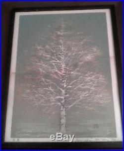 Joichi Hoshi Vintage Japanese Woodblock Print Early Spring Tree
