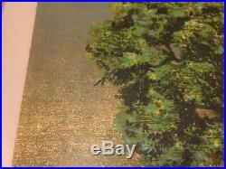 Joichi Hoshi Woodblock Print Summer Day 1977 Small Framed Gilded Japanese VTG