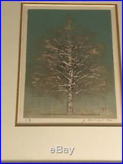 Joichi Hoshi original wood block print Early Spring signed