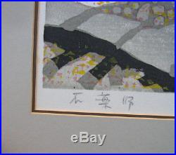 Junichiro Sekino 1914-88 Midcentury Modern Japanese Sosaku Hanga Woodblock Print