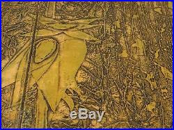 Junichiro Sekino 1963 original 16/20! RARE Japanese Woodblock Print MC Modern