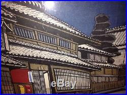 Junichiro Sekino Important Mid 20th Century Modern Japanese Woodblock Print Nice