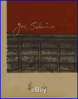 Junichiro Sekino (Japanese, 1914-1988) Original Woodblock Print Signed