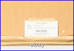 KATSUYUKI NISHIJIMA Signed Numbered Original Japanese Wood Block Print Framed