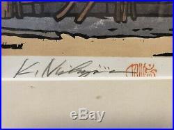 KATSUYUKI NISHIJIMA Signed Numbered Original Japanese Wood Block Print Minka