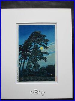 KAWASE HASUIFull Moon at Magome1930 Japanese woodblock prints Antique