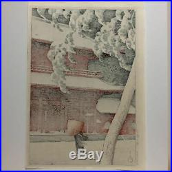 KAWASE HASUIZojoji Temple, Shiba1925 Japanese Antique woodblock prints