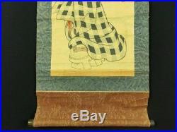 KEISAI EISEN Japanese Woodblock Print Hanging Scroll BIJIN Kimono Beauty EDO999