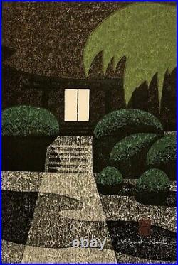 KIYOSHI SAITO 20th c. Japanese Woodblock Print JOKO-JI KAMINO-YAMA Jokoji Temple