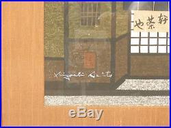 KIYOSHI SAITO-Original Signed, Vintage Modernist Japanese WOODBLOCK PRINT