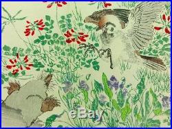 KYOSAI Japanese Woodblock Print 2 Books Set Birds Flowers MEIJI ORIGINAL 996