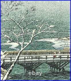 Kasamatsu Shiro #28 Echigi Kashiwazaki Japanese traditional Woodblock print