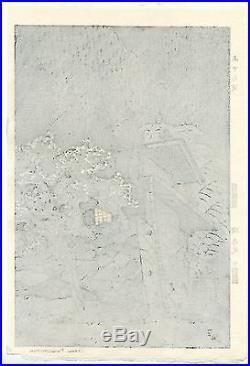 Kasamatsu Shiro JAPANESE Woodblock Print SHIN HANGA Aterazawa