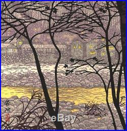 Kasamatsu Shiro SK12 Zantou Japanese Woodblock Print