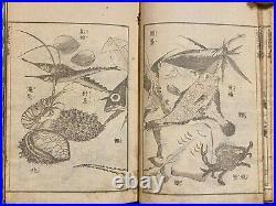 Katsushika Hokusai Sketch Manga 15 Ukiyo-e Japanese Woodblock Print Book Meiji