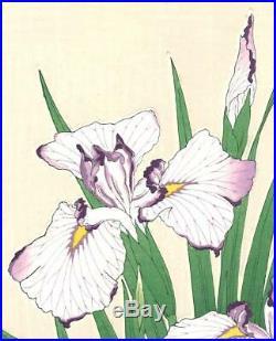 Kawarazaki Shodo F2 Hanashobu (Japanese Iris) Japanese woodblock prints