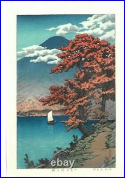 Kawase Hasui #HKS-13 Nikko Chuzenji ko Japanese Traditional Woodblock Print