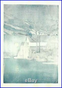 Kawase Hasui HKS-15 Itako no Yu Japanese Traditional Woodblock Print