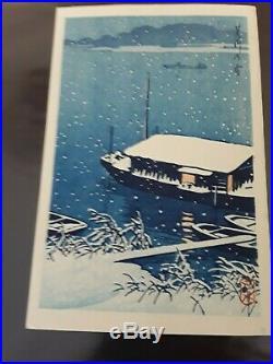 Kawase Hasui Japanese Woodblock Print Snow at Arakawa River