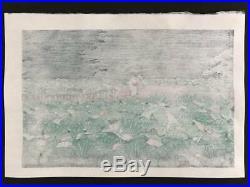 Kawase Hasui Japanese Woodblock print 1929 Ukiyoe Rare Vintage Collector
