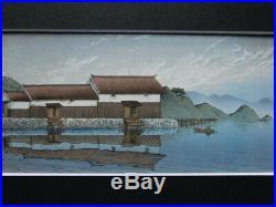 Kawase Hasui Japanese Woodblock print 260 x 110 mm Ukiyoe Rare Vintage Collector