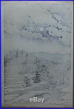 Kawase Hasui Karikachi Mountian Pass (c. 1927) Japanese Woodblock Print