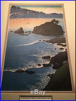 Kawase Hasui Kude Beach Wakasa Hiroshige 1950s Japanese woodblock print art