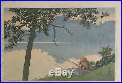 Kawase Hasui Lake Matsubara, Shinshu Japanese Woodblock Print