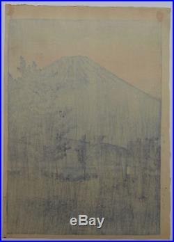Kawase Hasui Lake Yamanaka Japanese Woodblock Print