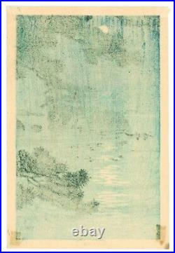 Kawase Hasui Moon at Matsushima antique Japanese Woodblock Print