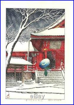 Kawase Hasui Ueno Kiyomizudo no Yuki 1929 Japanese Woodblock Print SHIN HANAGA