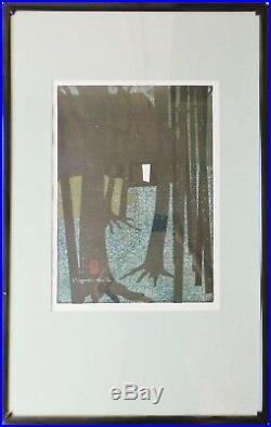Kiyoshi Saito 1967 Jikishi-an 5/100 22 x 16 Sosaku Shin Hanga Woodblock Print