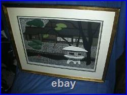 Kiyoshi Saito 38/100 Japanese Woodblock Print Katura Kyoto Excellent! RARE