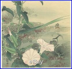 Kogyo Tsukioka, Flower Art, Nature, Original Japanese Woodblock Print, Ukiyo-e