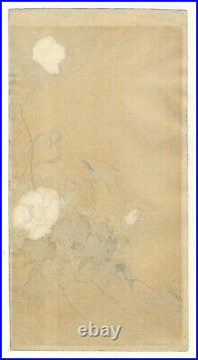 Koson Ohara, Small Bird on a Twig, Kachoga, Original Japanese Woodblock Print