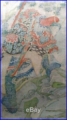 Kuniyoshi / Li Gun, the Flying Deity/Japanese Woodblock Print/Ukiyoe / Reprint