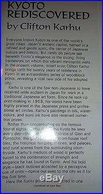 Kyoto Rediscovered, Japanese Woodblock Prints, Clifton Karhu, 1stEd. Japan