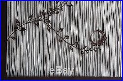 Large Antique Japanese Kimono Fabric Stencil Katagami Print Edo Woodblock 19th