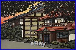Large Limited Edition Signed Japanese Woodblock Print Katsuyuki Nishijima