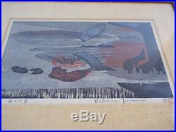 MId Century Modern Yoshiharu Kimura Japanese Artist Woodblock Abstract Print Art