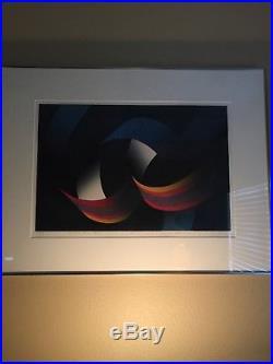 Maruyama Hiroshi Woodblock Print 1985 Midnight Blue
