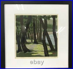 Masao IdoKotobiki Beach1989 Japanese Original woodblock prints Ukiyo-e