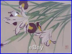 Matching Framed Modern Botanical Floral Flowers Japanese Woodblock Prints Art