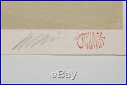 Modern Japanese Woodblock Print Signed Katsuyuki Nishijima Shima Original