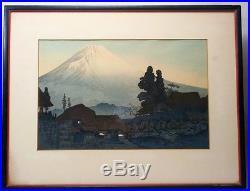 Mount Fuji from Mizukubo by Takahashi Shotei, Japanese Woodblock 1936 original
