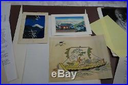 Multi Japanese Woodblock Prints Utagawa Hiroshige, Kawase Hasui Taikichi Irie