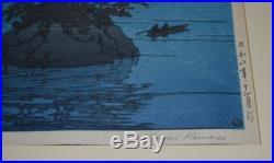 Nice Vintage Signed Hasui Kawase Woodblock Japanese Print Matsushima Japan