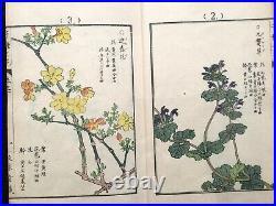 ORG Kono BAIREI Thousands of flowers Woodcut album Woodblock print Book Japan #1