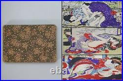 ORIGINAL Japanese Art Shunga 12 Pages Woodblock Erotic Print Book UKIYOE Meiji